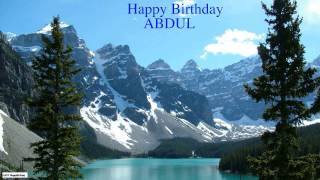 Abdul  Nature & Naturaleza - Happy Birthday