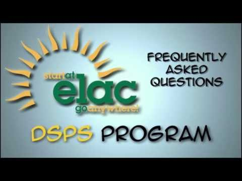East Los Angeles College FAQs DSPS QT