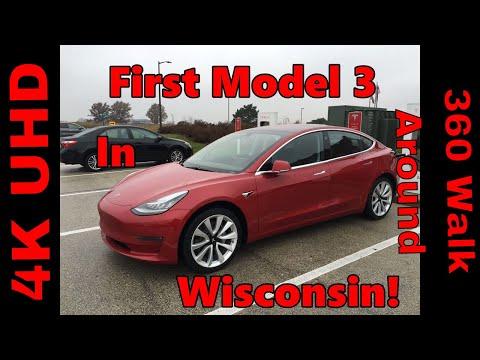 Model 3 Walk Around with GREAT Trunk & Door Handle Shot!