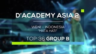 Video Weni, Indonesia - Mata Hati (D'Academy Asia 2) download MP3, 3GP, MP4, WEBM, AVI, FLV September 2018