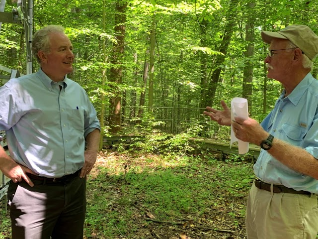 Senator Chris Van Hollen Tours Smithsonian Environmental Research Center