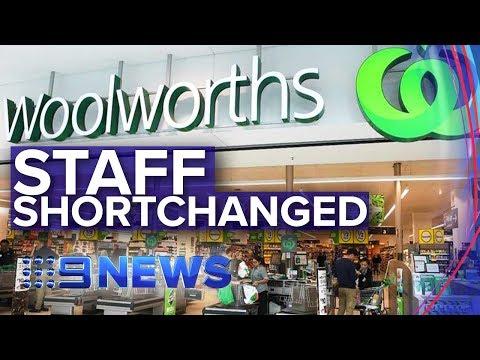 Woolworths Underpaid Workers $300m   Nine News Australia