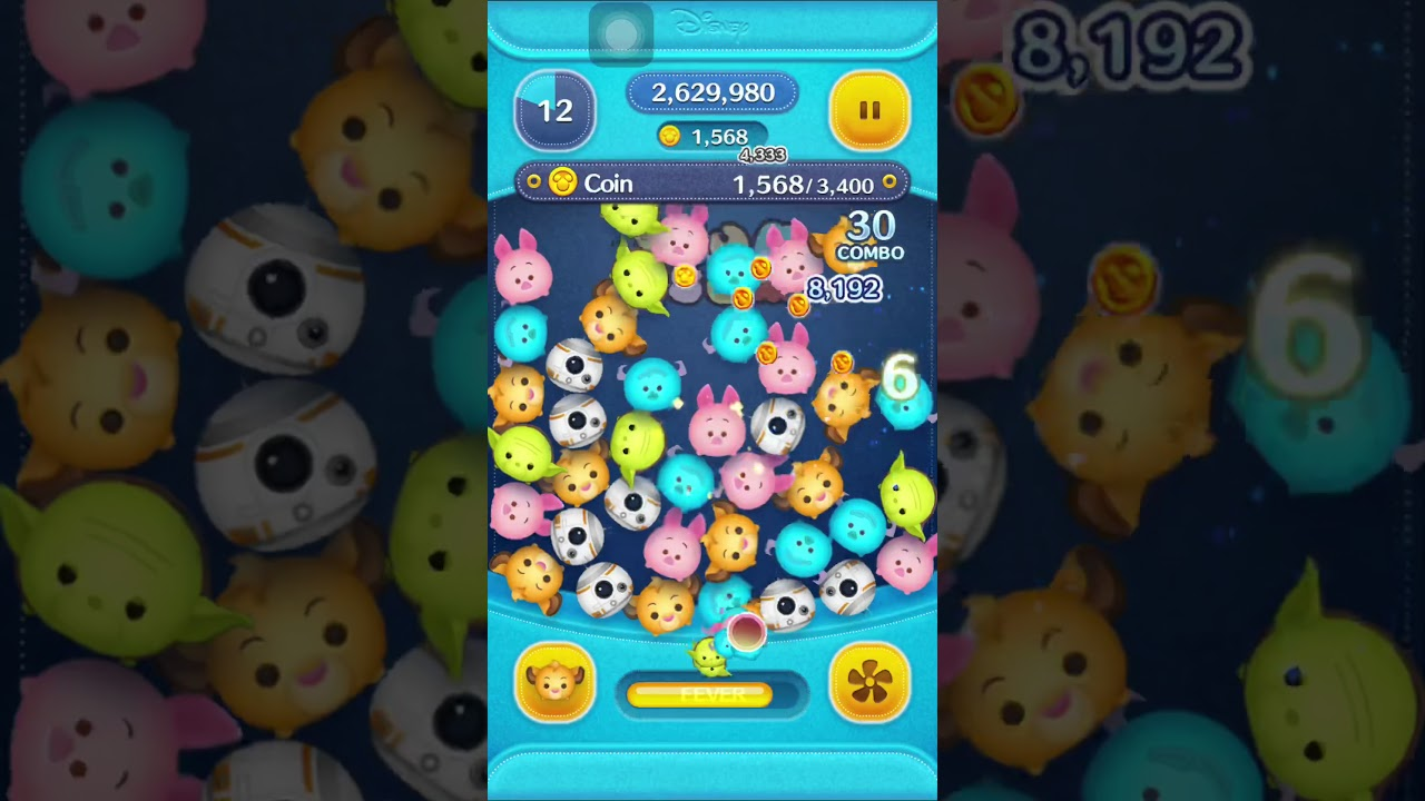 [TSUM TSUM] Use a Tsum Tsum with flipped hair to earn 3400 coins in total - YouTube