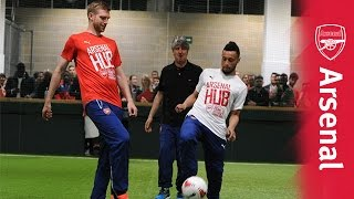Per Mertesacker and Francis Coquelin launch the Arsenal Hub
