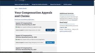 Appeals status on Vets.gov