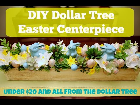 DIY Dollar Tree Decor - How To Make An Easter Centerpiece