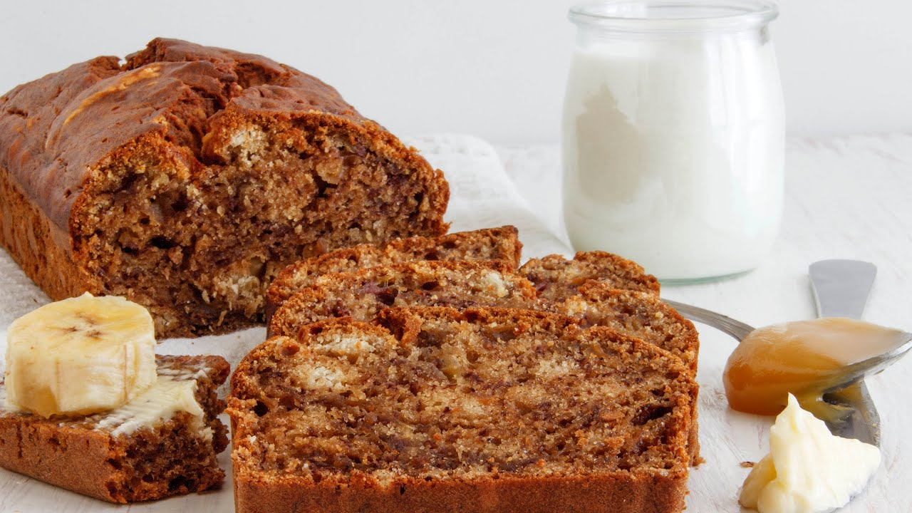 Best banana bread recipe no mixer happyfoods youtube forumfinder Choice Image