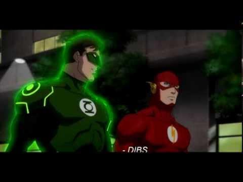 Superman Cock Blocks Green Lantern   Justice League War