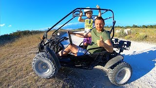 Driving in My Car Song for Kids | Offroad Buggy Car Stuck in the Sand in Real Life