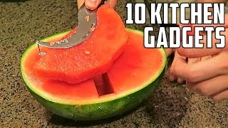 10 Kitchen Gadgets You Should Try! (ft. Crazy Russian Hacker life hacks)