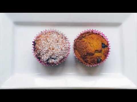فيديو: وصفة مافن التوت الأزرق ببذور الشيا خالية من الجلوتين، مشتقات الحليب والسكر