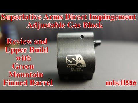 Superlative Arms Direct Impingement Bleed-off Adjustable Gas Block