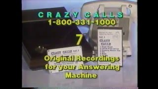 80's Ads: Crazy Calls Answering Machine Cassette Tapes 1986 | Video