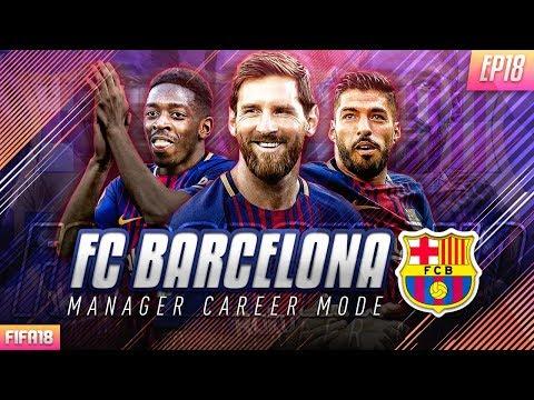 FIFA 18 Barcelona Career Mode - EP18 - 7 Goal Thriller!! Facing Manchester United!!