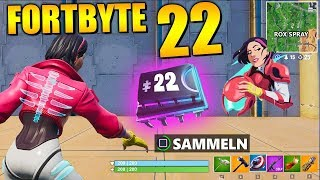 Fortnite Fortbyte 22 ⭐ Rox Spray Underpass (fr) All Fortbyte Places Saison 9 Utopia Skin Anglais