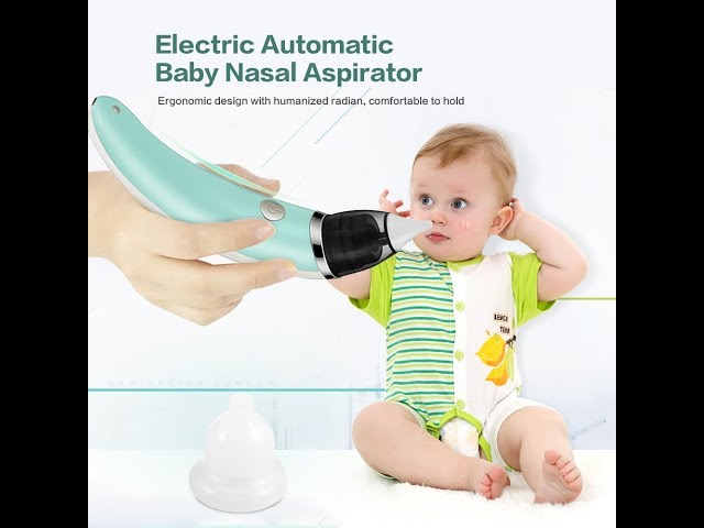 Baby Nasal Aspirator Wadeo Electric Nose Cleaner Newborn 3 Sizes Silicone Tips P