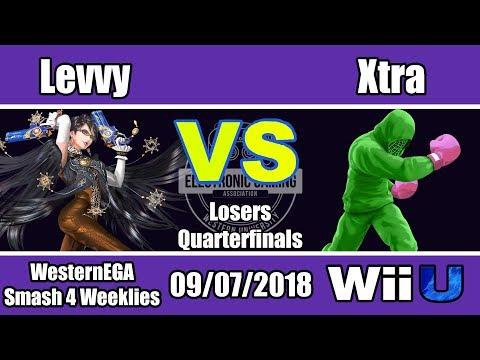 WEGA Smash 4 Fall 2018 #1 - Singles Bracket Losers Quarters - Levvy (Bayo) VS Xtra (Mac)