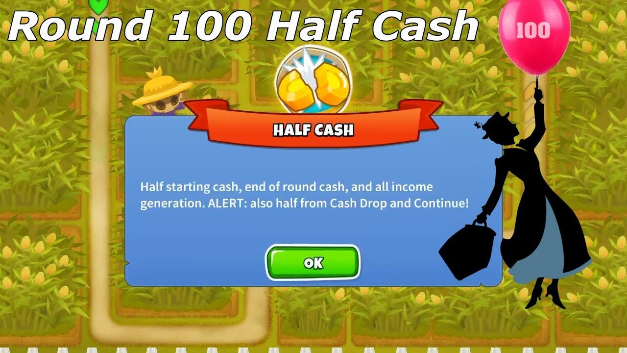 Bloons TD 6 - Cornfields Half Cash round 100 with no  powers/continues/instas (BTD6 v10)