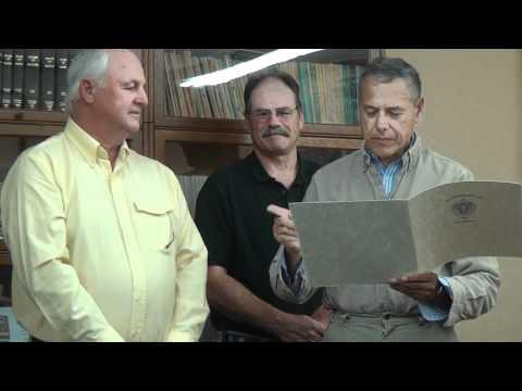 Westport's Robert Pierce is honored by Westport Selectmen on October 17, 2011.