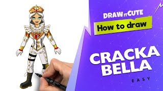 How to draw Crackabella easy | Fortnite Season 7 drawing tutorial