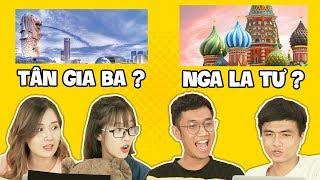 Đoán tên nước bằng tiếng Hán - Game hack não