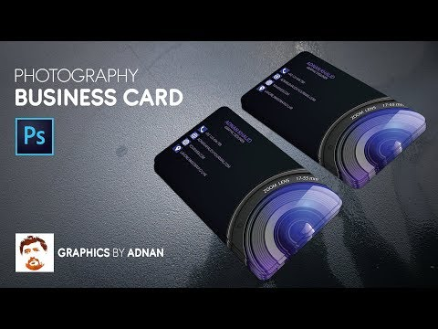 Photography Business Card Design in Photoshop cc Tutorial thumbnail