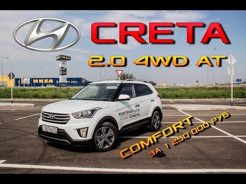Обзор Hyundai Creta Comfort 2.0 4wd. Тест-Драйв Крета. Цена, отзыв конкуренты сравнение плюсы минусы