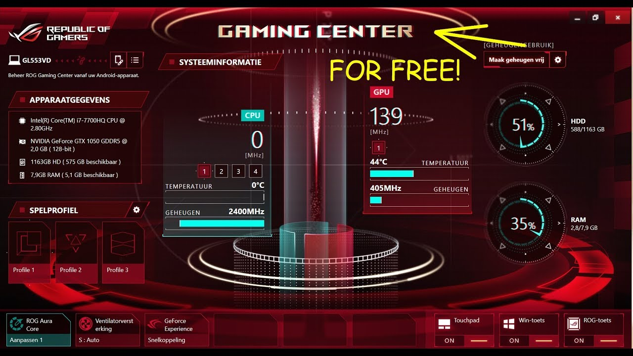How to get the ROG Gaming Center For Free ( Working )