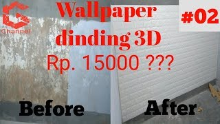 Unboxing Wallpaper dinding 3d murah: Wallpaper terbaru