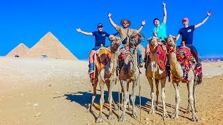 RIDING CAMELS AT THE GREAT PYRAMIDS!