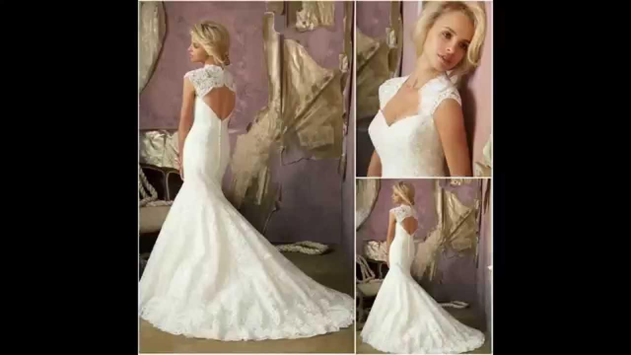 Conhecido Vestidos de noiva Longo Modelos Boho - Simples - Sereia - YouTube KK26