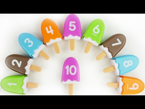 Learn Counting Numbers with Number Ice Cream Popsicles Rainbow Game for Toddlers Preschoolers Kids
