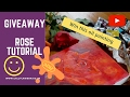 Water mixable oil painting tutorial - Giveaway - win this painting of a rose