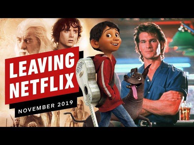 Saliendo de Netflix en noviembre de 2019 + vídeo