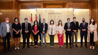 Firma de los convenios de colaboración con las cabeceras de comarca