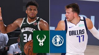 Check out highlights from the battle between giannis antetokounmpo and milwaukee bucks against luka doncic, kristaps porzingis dallas mavericks i...
