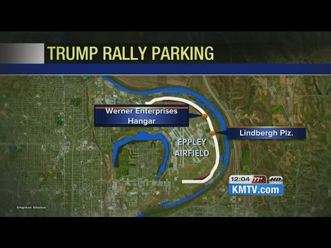 Where to park for Donald Trump's visit to Omaha
