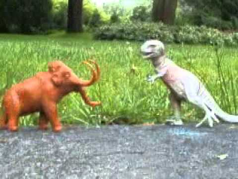 T-Rex Fights Mammoth - YouTube