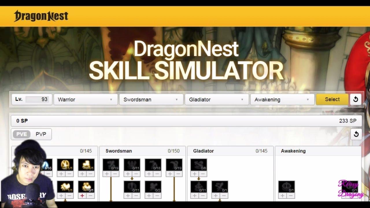 Cara Register DN SEA & Dragon Nest New Update - Lv 93 Skill Simulator by  eyedentity