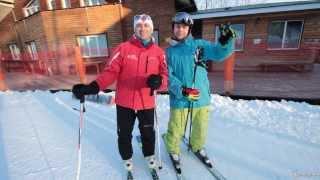 Горнолыжная школа. Урок 5 - Как тормозить и контролировать скорость на лыжах ''в плуге''