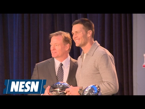 Roger Goodell Presents Super Bowl LI MVP Award To Tom Brady
