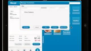 Revel systems ipad pos customer info