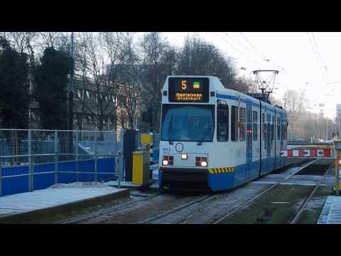 GVB BN G11 tram lijn 5 Amsterdam Zuidas