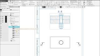 Компас-3D v17. Не разрезать крепеж (детали) в чертеже