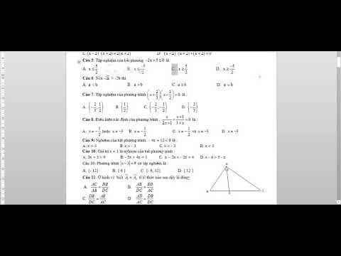 Toán học lớp 8 – Đề thi Học kì 2 – Đề thi số 4, đề cương ôn thi học kì 2, trắc nghiệm toán 8 2019