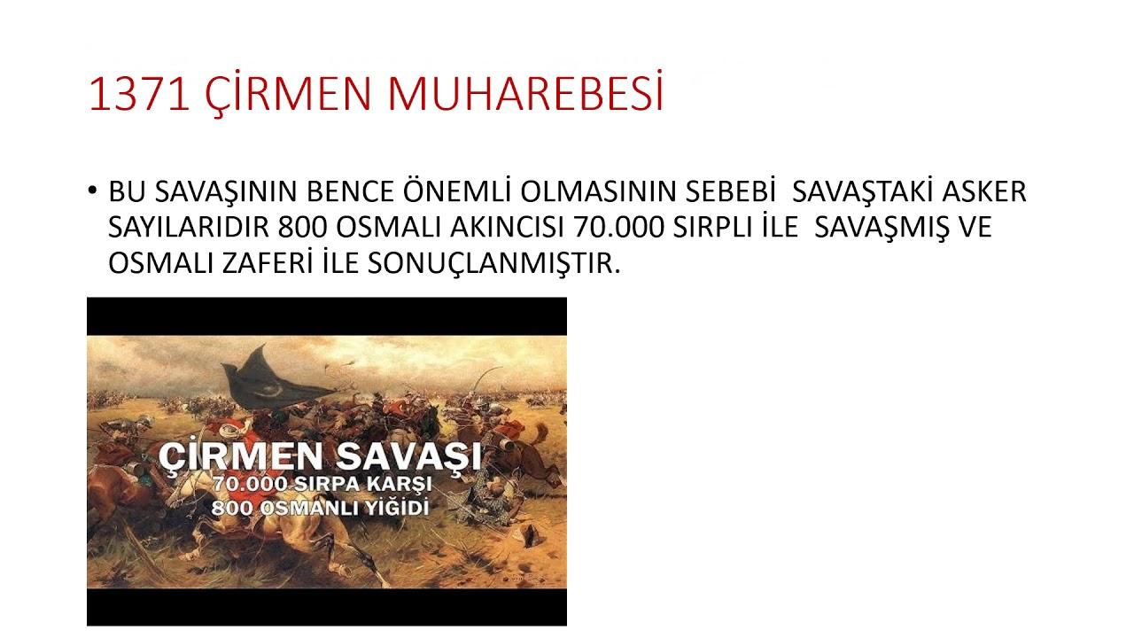 Osmanlı devleti kuruluş dönemindeki tarihi olaylar ÖZET