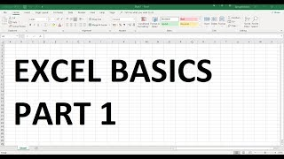 Excel Basics - FREE Tutorial - Part 1
