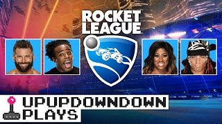 ZACK RYDER, EMBER MOON, BRENNAN WILLIAMS & AUSTIN square off in ROCKET LEAGUE! — UpUpDownDown Plays