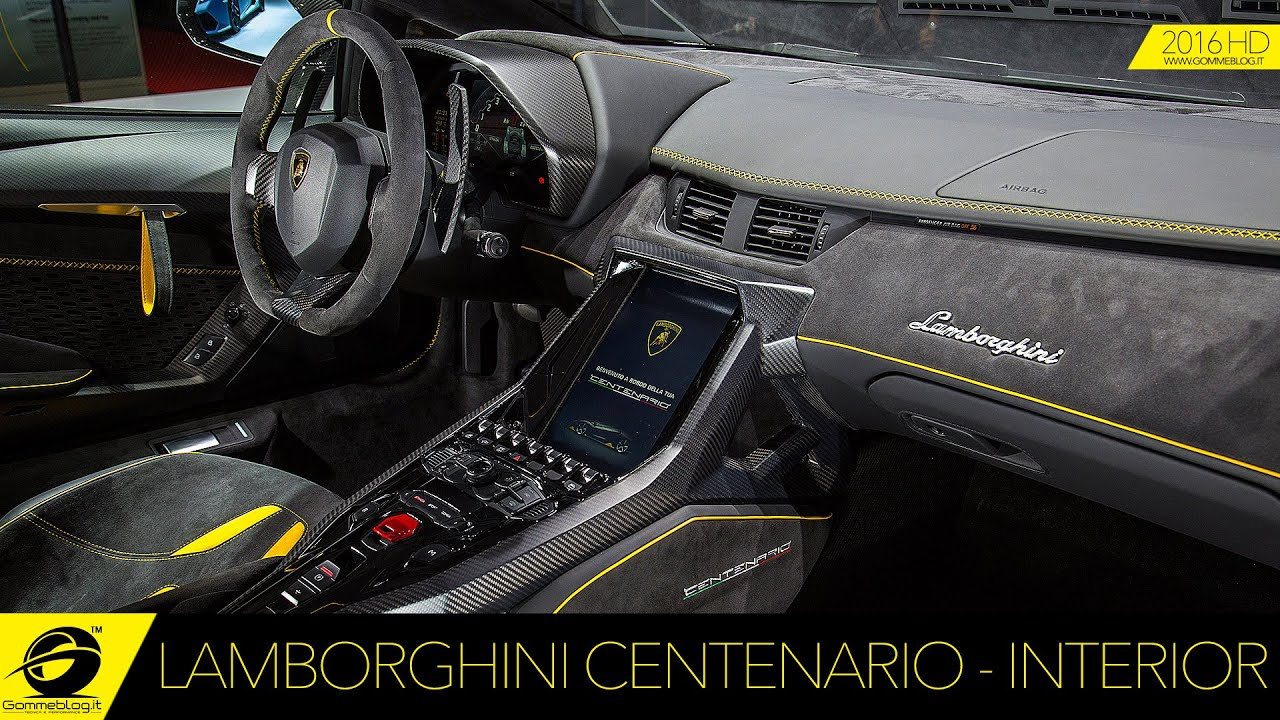 Lamborghini Centenario | INTERIOR DESIGN - YouTube