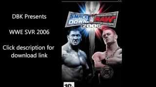WWE SmackDown vs Raw 2006 PSP FREE DOWNLOAD